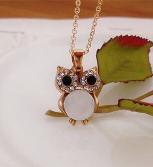 Cute Mini Owl Pendant Necklace