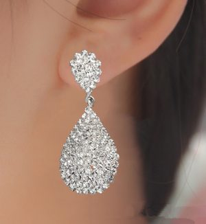 Fashion Silver Color Drop Earrings