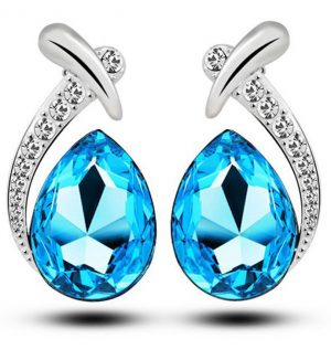 High Quality Korea Fashion Jewelry Silver Plated Stud Earring Elegant Design For Women Wedding Accesories