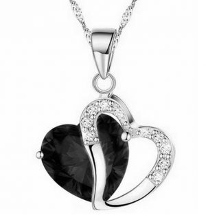 2019 Sell like hot cakes 6 colors Top Class lady fashion heart pendant necklace crystal jewelry new girls