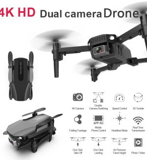 4K Dual Cameras 1080p Wifi Foldable Drones